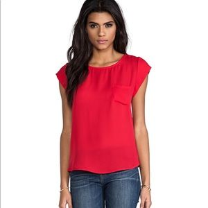 Joie Candy Red Rancher Silk Top